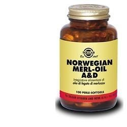 NORVEGIAN MERL-OIL A&D SOLGAR 100 PERLE SOFT GEL
