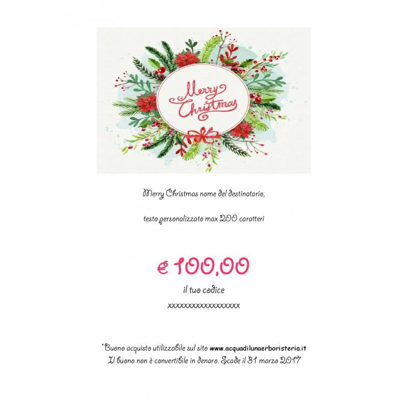 Buon Natale Del C Testo.Buon Natale Gift Card 100 Acqua Di Luna Erboristeria