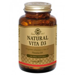 NATURAL VITA D3 SOLGAR 100 PERLE SOFT GEL