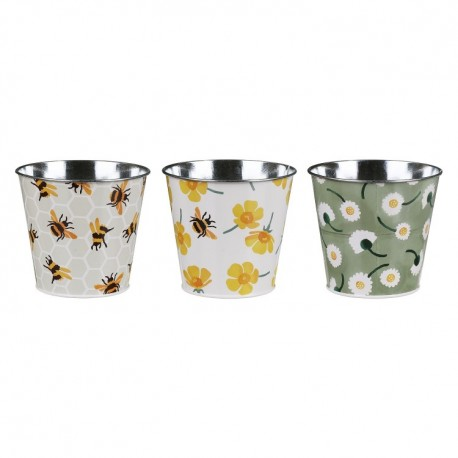 SET DI 3 VASETTI DI LATTA DECORATI DI EMMA BRIDGEWATER - ELITETINS -